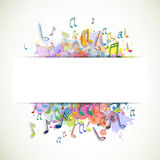 Colorful Musicnotes Royalty Free Stock Image