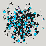 Illustration of abstract background with triangles. Stock Photography