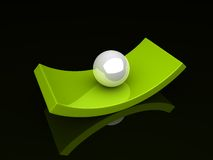 Illustration of abstract boat and sphere Stock Photography