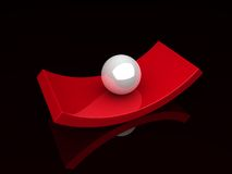 Illustration of abstract boat and sphere Stock Image