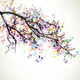 Branch with colorful notes Royalty Free Stock Photo