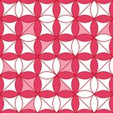 Diamond shape circle flower symmetry seamless pattern. This illustration is abstract Chinese New Year shy red pink white in diamond shape and circles combination Royalty Free Stock Image