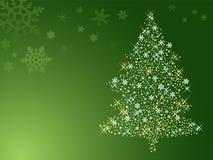 Illustration of abstract christmas tree. Full of shiny stars Royalty Free Illustration