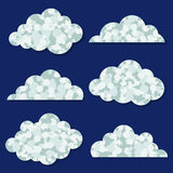 Illustration of abstract clouds collection Stock Photos