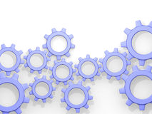 Illustration of abstract cogwheels Stock Image