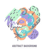 Illustration of abstract colorful background with temple Royalty Free Stock Photos