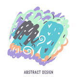 Illustration of abstract colorful background with temple Royalty Free Stock Images