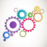 Cog wheels. Illustration of Abstract colorful Cog Wheels Stock Photos