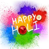 Happy Holi background for color festival of India celebration greetings Royalty Free Stock Images