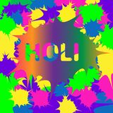 Illustration Holi background. Illustration of abstract colorful Happy Holi background Royalty Free Stock Photos