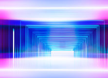 Illustration of abstract cybernetic effects Stock Photography