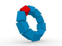 Illustration of abstract 3d shapes Royalty Free Stock Images