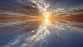 Illustration abstract the dawn Stock Photography