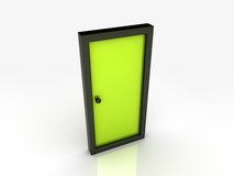 Illustration of abstract door Royalty Free Stock Image