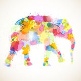 Colorful elephant Stock Photos