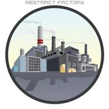 Illustration of Abstract Factory. Royalty Free Stock Photography