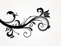 Illustration of abstract floral silhouette Royalty Free Stock Photo