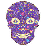 Floral skull Stock Image