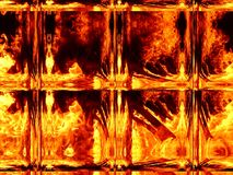 Illustration of an abstract image of a fiery flame. Close-up Stock Photo