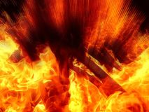 Illustration of an abstract image of a fiery flame. Close-up Royalty Free Stock Photo