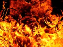 Illustration of an abstract image of a fiery flame. Close-up Stock Photos