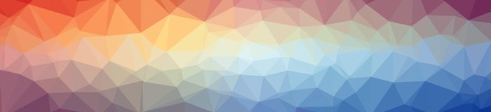 Illustration of abstract low poly blue, yellow and red banner background. Illustration of abstract low poly blue, yellow and red banner background stock illustration