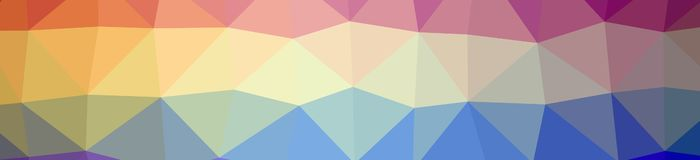 Illustration of abstract low poly orange, green, blue, yellow, red banner background. Illustration of abstract low poly orange, green, blue, yellow, red banner royalty free illustration