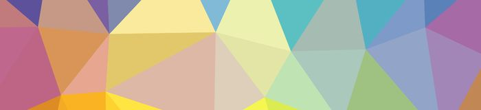 Illustration of abstract low poly orange, green, blue, yellow, red banner background. Illustration of abstract low poly orange, green, blue, yellow, red banner vector illustration