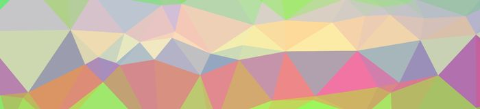 Illustration of abstract low poly orange, green, blue, yellow, red banner background. Illustration of abstract low poly orange, green, blue, yellow, red banner stock illustration