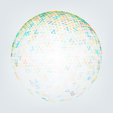 Illustration of Abstract Low Poly Sphere Royalty Free Stock Photography