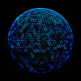 Illustration of Abstract Low Poly Sphere Stock Photos