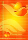 illustration abstract orange background Royalty Free Stock Image