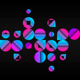 Illustration of Abstract Pattern with Circles Royalty Free Stock Images