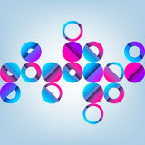 Illustration of Abstract Pattern with Circles Royalty Free Stock Photography