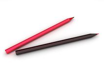 Illustration of abstract pencils Royalty Free Stock Photo