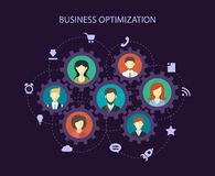 Illustration of abstract  people business Stock Photo