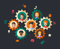 Illustration of abstract  people business Royalty Free Stock Image