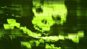 An abstract pirate scull at the pc screen Royalty Free Stock Photo