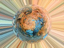 Illustration of Abstract Planet Royalty Free Stock Photo