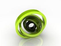 Illustration of abstract rotated circles Royalty Free Stock Photos