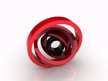 Illustration of abstract rotated circles Stock Photo
