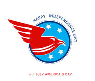Illustration of abstract sign for Independence day. American eagle . Vector Stock Photo