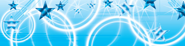 Star hang star blue bright banner effect. This illustration is abstract star with diagonal line hang the star, nobody know star play with star can appear the Stock Photos