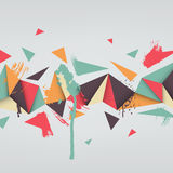 Illustration of abstract texture with triangles Stock Photography