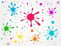 Illustration abstraction blots Royalty Free Stock Photos