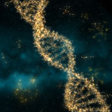 Illustration abstraite avec de l'ADN de molécule Images stock