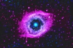 Illustration abstraite avec la nébuleuse de l'espace d'étoile Image stock