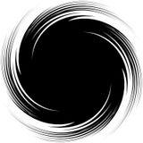 Illustration abstraite avec la spirale, élément de remous en coupant le MAS Image stock