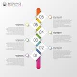 Illustration abstraite colorée plate de vecteur d'infographics de chronologie avec le rectangle Image stock