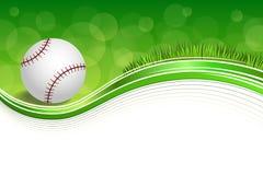 Illustration abstraite de cadre de boule de base-ball d'herbe verte de BBackground Photographie stock libre de droits